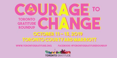Toronto Gratitude Roundup 2019 - Conference tickets