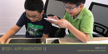 Coding for Kids - P201: App Inventor 1 Course (Ages 10-12) @ Parkway Parade tickets