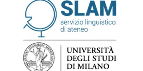 English TEST for the Master's Programme in International Relations (REL) / TEST di INGLESE per accesso al CdlM in RELAZIONI INTERNAZIONALI presso lo SLAM biglietti