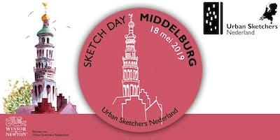 National Sketch Day Middelburg - 18 mei 2019 - Urban Sketchers Netherlands