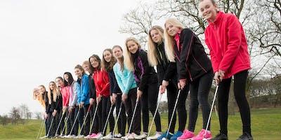 Girls Golf Rocks coaching course at Warrington Golf club