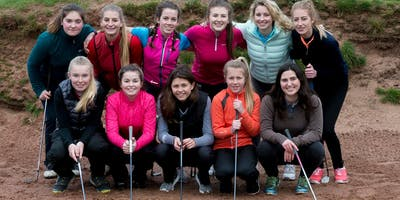 Girls Golf Rocks coaching course at Carus Green Golf club