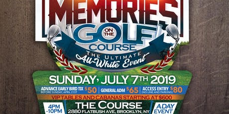 Memories on the golf course tickets