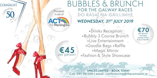 Bubbles & Brunch in aid of Act for Meningitis