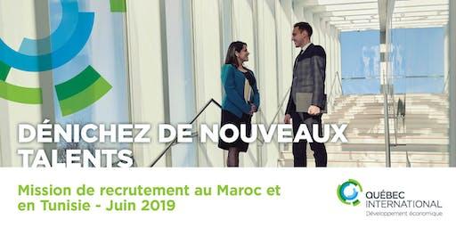 Mission de recrutement au Maroc et en Tunisie - Juin 2019
