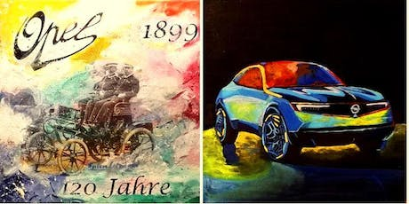 """Afterwork painting """"120 Jahre Opel""""  inklusive Abendtapas tickets"""