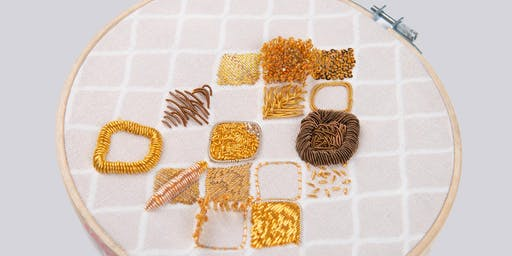 Goldwork Embroidery Workshop with Elnaz Yazdani