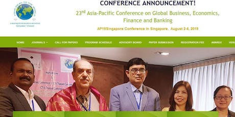 23rd Asia-Pacific Conference on Global Business, Economics, Finance and Banking (GVC) tickets