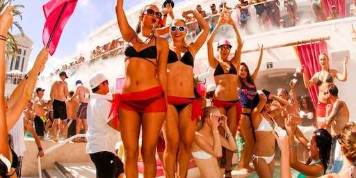 Drais Beach Club - HOTTEST Vegas Rooftop Pool Party! - 8/31