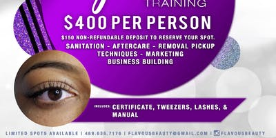 $400 DFW Eyelash Extension Training