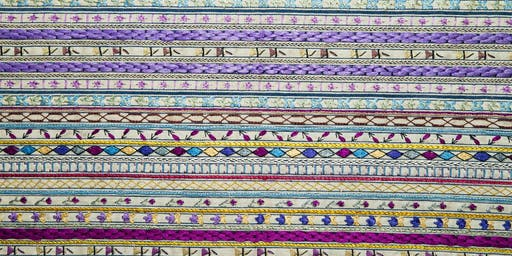 Embroidered Ticking Sampler Workshop with Haesel Abbott at The Picture House