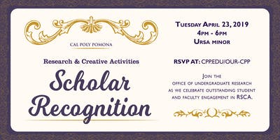 2019 Research and Creative Activities Scholar Recognition