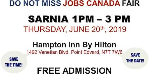 Free: Sarnia Job Fair - June 20th, 2019