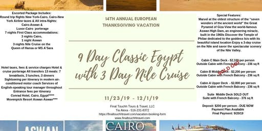 9 Day Classic Egypt with 3 Day Nile Cruise