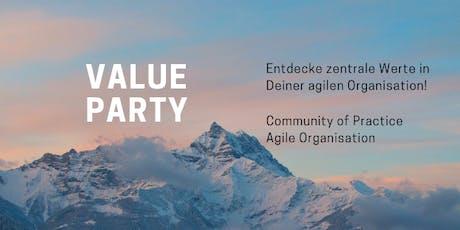 Value Party - Entdecke zentrale Werte Deiner agilen Organisation! Tickets