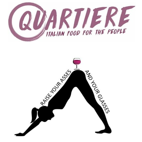 Yoga in a bar: Raise your asses and your glasses