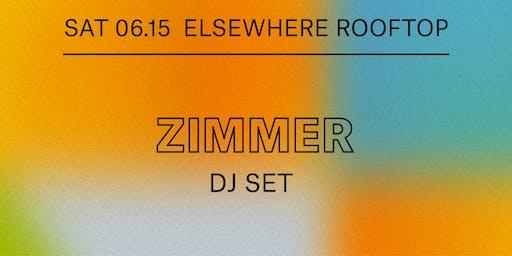 Zimmer (DJ Set), Cry Baby, Evan Michael & Jonny Sum @ Elsewhere (Rooftop)