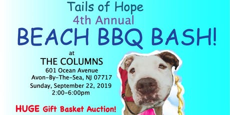 4th Annual Tails of Hope Beach BBQ Bash 2019 tickets