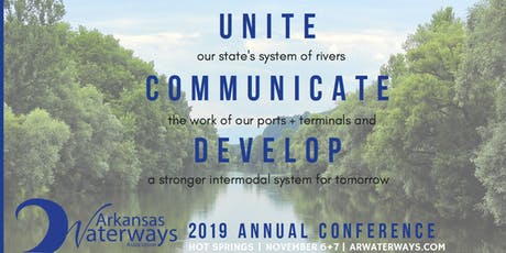 November 6th and 7th, 2019 Arkansas Waterways Association Conference tickets