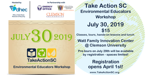 Take Action SC Environmental Educators Summer Workshop 2019