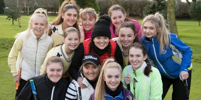 Girls Golf Rocks coaching course at Whittington Heath Golf club