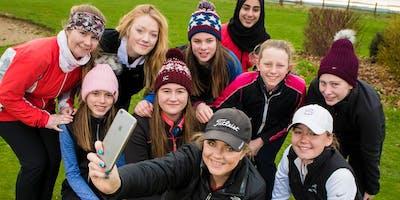 Girls Golf Rocks coaching course at Hoebridge Golf centre
