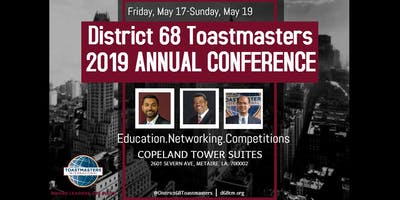 District 68 Toastmasters  2019 Annual Conference