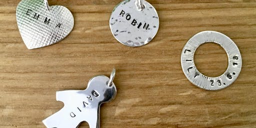 Jewellery Making Class - Personalised Silver Charm