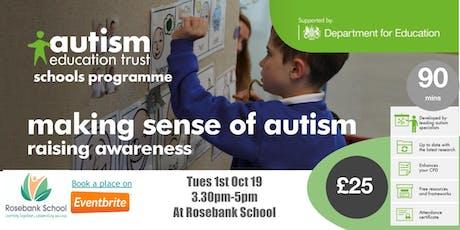 AET Schools Making sense of Autism tickets