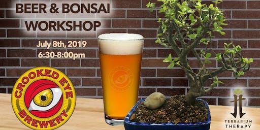 Beer and Bonsai at Crooked Eye