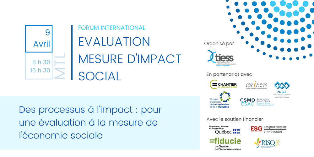 Forum international sur l'évaluation et la mesure d'impact social