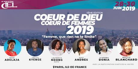 """Coeur de Dieu, Coeur de Femmes"" 2019:Pack tickets"