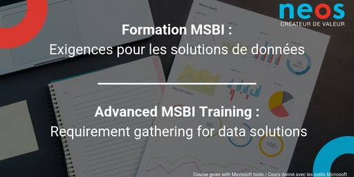 Advanced MSBI Training : Requirement gathering for data solutions