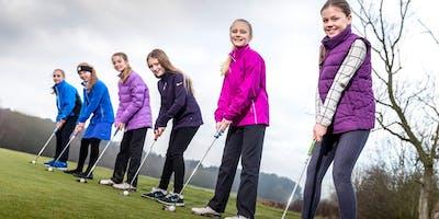Girls Golf Rocks coaching course at Cookridge Hall Golf club