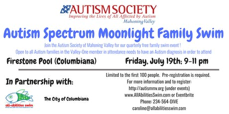 ASMV (Autism) Moonlight Family Swim: Columbiana County tickets