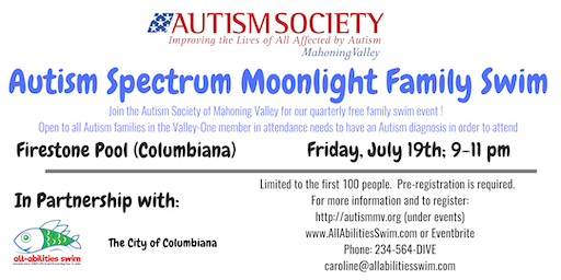 ASMV (Autism) Moonlight Family Swim: Columbiana County