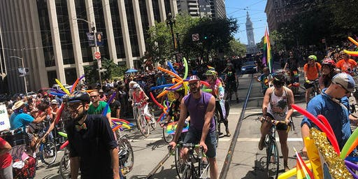 SF Bicycle Coalition Contingent at the San Francisco Pride Parade