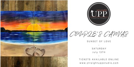 COUPLE'S CANVAS   Sunset Of Love