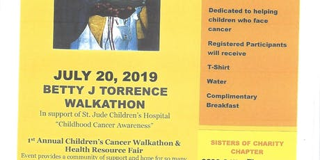 Betty J. Torrence Cancer Walk-A-Thon/ In support of St. Jude Children Research Hospital  tickets