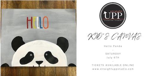 KID'S CANVAS | Hello Panda