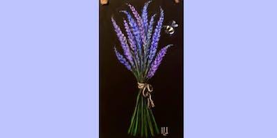Lavender Chalkboard Sign