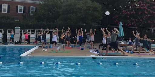 Poolside Sunset Yoga