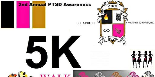 Delta Phi Chi Military Sorority 2nd PTSD Awareness 5K Walk-KILLEEN,TX.