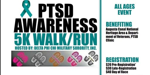 Delta Phi Chi Military Sorority 2nd PTSD Awareness 5K Walk-AUGUSTA, GA.