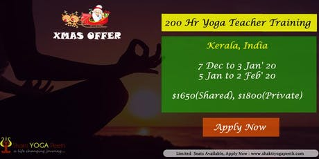 Join 200 Hr Yoga Teacher Training in Varkala, Kerala tickets