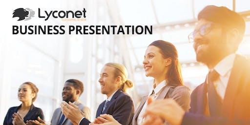 Lyconet Business Presentation: Toronto, ON - July 13, 2019