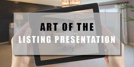 CB Bain | Art of the Listing Presentation (3 CE-WA) | New Traditions, Van | Oct 2nd 2019