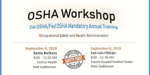 OSHA Workshop: Cal-OSHA Office Staff Training Santa Barbara
