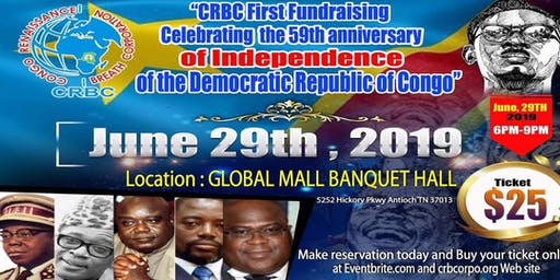 CRBC fundraising celebrating the 59th anniversary of independence of DRC