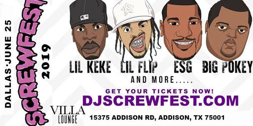 SCREWFEST 2019 - DALLAS • TUESDAY JUNE 25TH at VILLA LOUNGE